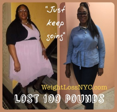 she lost 100 pounds